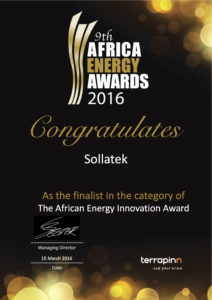 Africa Energy Awards 2016 . Protect Electrical and Electronic Equipment